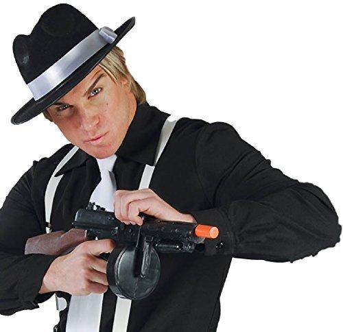 Spielzeug Schwarz Braun Gangster Maschine Pistole 1920s Jahre große Gatsby Bugsy Malone Kostüm Waffe Zubehör - Bugsy Malone Kostüm