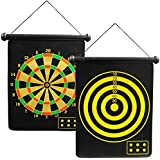 "Sg Magnetic Reversible Dart Board Two-Sides 17"" Board Game"