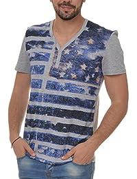 Herren T-Shirt 98-86 Freizeit Shirt mit Motiv (Weitere Farben) H1597W20030O