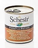 Schesir Poulet avec Pommes de terre en gelée pour chien 16 x 285 g
