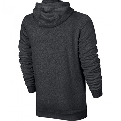 Nike Sportswear Men's Full-Zip Hoodie Grau (charcoal heathr / white)