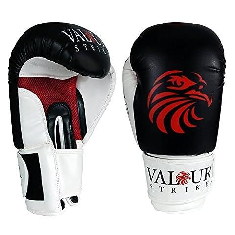 Kids gants de boxe 113g–296ml & #/; Entraînement MMA Enfant Junior Gant Punch & #/; Sac Gants Muay Thai Taekwondo débutant Mitaines arts martiaux frappe kickboxing, Black, White, Red