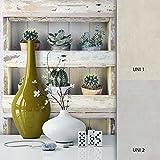 NEWROOM Holztapete Grau Papiertapete Blumen Muster/Motiv schöne moderne und edle Design 3D Optik, inklusive Tapezier Ratgeber