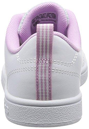 adidas VS ADVANTAGE CLEAN K B74631 Mädchen Schnürhalbschuh sportlicher Boden Weiß