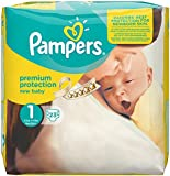 Pampers New Baby Nappies Carry Pack, Size 1 (Newborn) - 23 Nappies