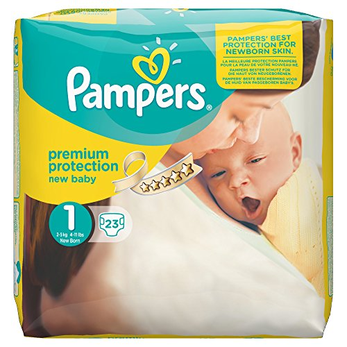 Pampers New Baby 23 Nappies Size 1 (2-5kg)