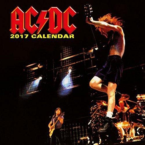 Confezione - 2 Articoli - AC/DC 2017 Ufficiale Calendario Parete - Dimensioni Da Chiuso: 35 x 35 cm (30.5x30.5cm) e un Set di 4 Cuscinetti Adesivi Riposizionabili
