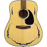 Pro CHITARRA ACUSTICA bordo tribale in vinile, per tutte le chitarre 24colori Black