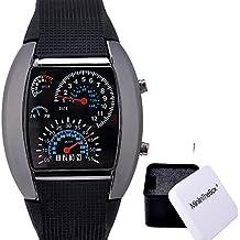 Unisex reloj de los deportes reloj de estilo LED Digital reloj de pulsera Reloj fresco único reloj de moda reloj (black)