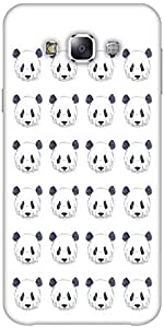 Snoogg Cute Panda Black And White Pattern Solid Snap On - Back Cover All Arou...
