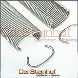 DerSteinhof | Gabionen-Zubehör | C Klammern | Befestigungsklammern | Galvan beschichtet 95 Zink 5% Aluminum | Made in Germany | (40)