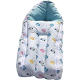 BAYBEE Baby Cotton Printed Sleeping Cum Carry Bag (58x 28x 12 CM)(Blue, 0-6 Months)