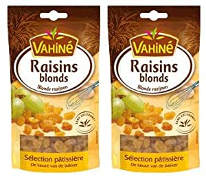 Vahiné - Fruits secs - Raisins blonds - lot de 2