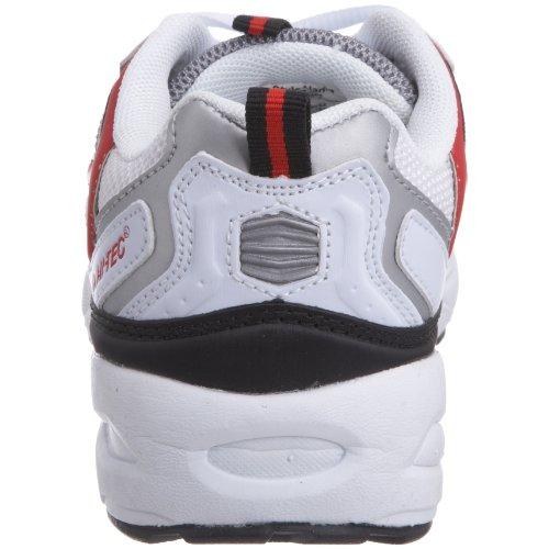 Hi-Tec, Scarpe da corsa bambini Bianco (White/Silver/Red)