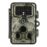 Memory Cámara Trail, cámara de Juego 1080P 16MP con Rango de detección de Gran Angular de 120 ° y 120 °, cámara Impermeable de Caza de la Fauna para la Naturaleza al Aire Libre