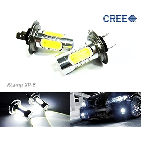 2x bianco lampadina 499PX26d h7Cree LED proiettore fari principali marcia diurna fendinebbia luce 22W Luffy