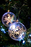 Clever Creations - Transparente Christbaumkugeln - bruchsicher - festliche Weihnachtsdeko - 80 mm - 6-teilig