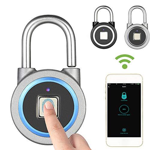 Smart Keyless Fingerprint Lock, wasserdichte APP/Fingerprint Entsperren Anti-Diebstahl-Sicherheit Vorhängeschloss Tür Gepäck Fall Schloss