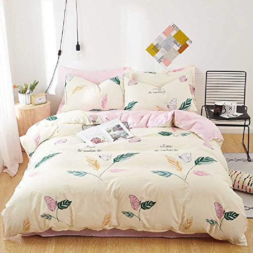 shishangdaka Einfache Baumwolle Vierteiligen Satz Herbst Und Winter Baumwolle Bettwäsche Sind Bett Bett Bettwäsche 1,8m Bettwäsche vierteiliges Set/Schmetterling Liebe