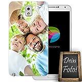dessana Eigenes Foto transparente Schutzhülle Handy Tasche Case für Samsung Galaxy Note 3