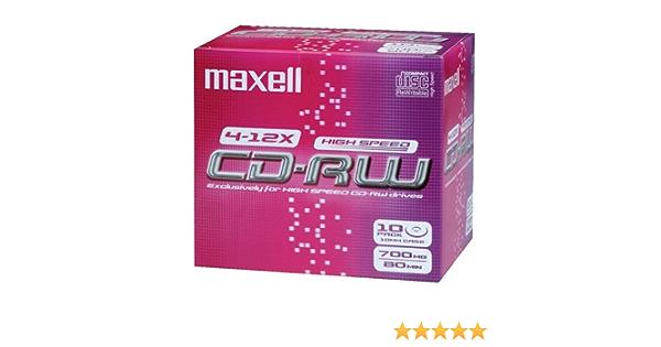 Maxell Cd Rw Rohlinge 80min 700mb 4 10x 10er Pack Jewel Computer Zubehör