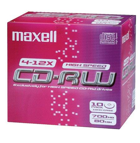 Maxell CD-RW Rohlinge 80min 700MB 4-10x 10er Pack Jewel Case