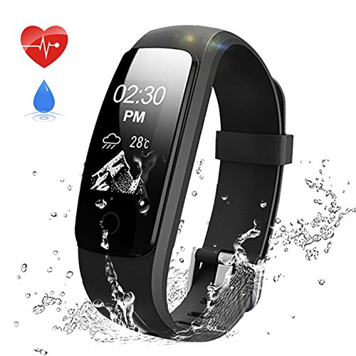 Fitness tracker,aneken activity tracker orologio fitness braccialetto fitness pedometer impermeabile ip67 con cardiofrequenzimetro da polso monitoraggio del contapassi e calorie monitoraggio del sonno notifiche chiamate e sms per iphone sumsang android ios smartphone