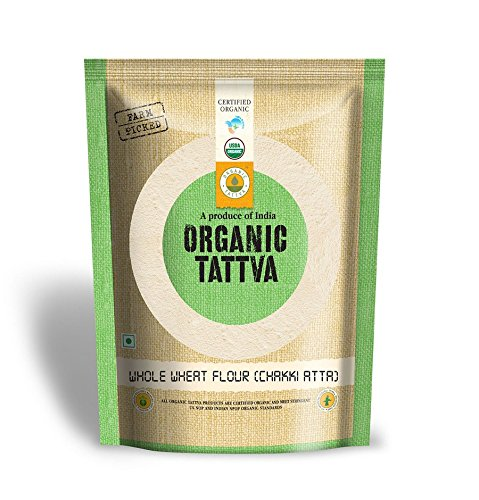 Organic Tattva Whole Wheat Flour (Chakki Atta), 1kg