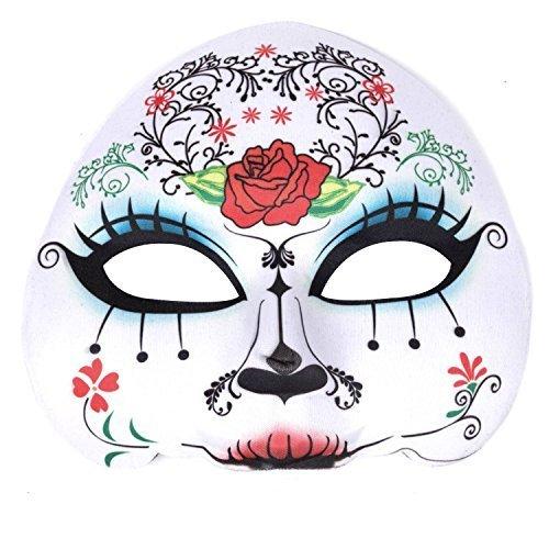 Damen Tag Der Toten Zuckerschädel Maske - (Toten Der Tag Masken)