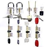 NS maestro conjunto completo 9 piezas de cerraduras transparentes para la práctica de la familia jugadores