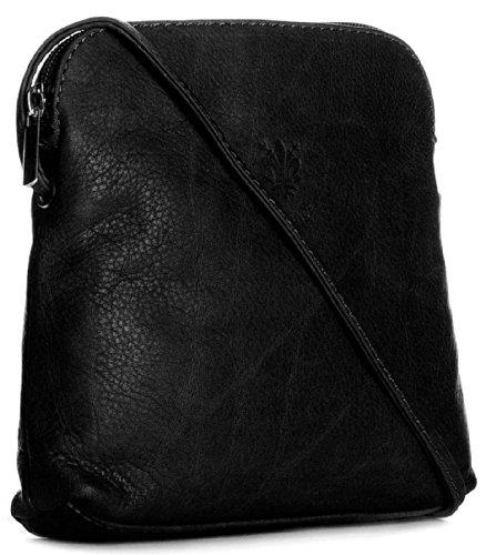 Big Handbag quaie, mini donna a portata di mano per cross-il corpo è realizzato in pelle italiana Nero (nero)