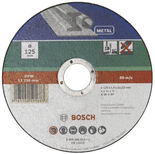 Bosch 2609256316 DIY Trennscheibe Metall 125 mm ø x 1,6 mm gerade