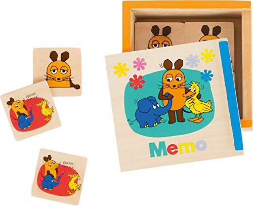 491 Sendung Memo-Spiel aus Holz mit verschiedenen Motiven aus Der Maus in praktischer Schiebebox, als Reisespiel geeignet ()