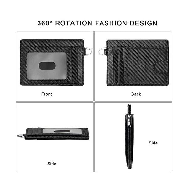 flintronic Portia Carte di Credito e Tasche Pelle, RFID/NFC Blocco Portafoglo, (1 Scomparto Con Cerniera, 6 Slot Per… 8 spesavip