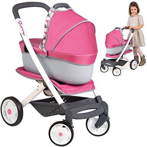 Preisvergleich Produktbild Maxi Cosi Quinny 3in1 Puppenwagen, Buggy und Tragekorb für Puppen bis 42cm • Puppenwagen Puppenbuggy Puppen-Kinderwagen Baby Born