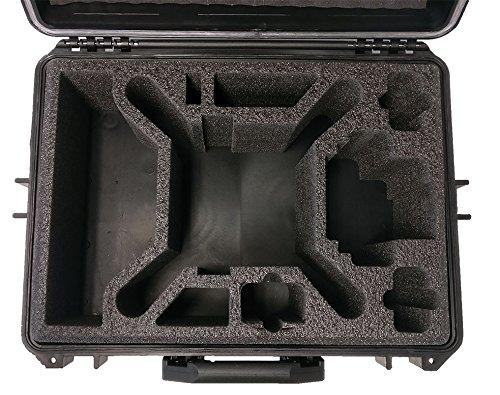 Hartschalen Koffer passend für den DJI Phantom 4 und DJI Phantom 4 Professional sowie Phantom 3 Adv und Pro mit angeschraubten Propellern und viel Zubehör von MC-CASES - 7
