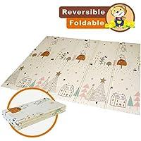 Alfombrilla de juegos para bebé, plegable, antideslizante, extragrande, reversible, impermeable, portátil, de doble cara, para niños pequeños y bebés