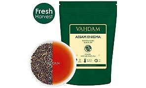 VAHDAM, Assam Enigma Second Flush, 100 grammi (50 tazze) Ricco, MALTY Assam Tea Foglia sciolta | 100% PURE ASSAM NERO TEA Foglia allentata | Foglie di tè nero con punte dorate | Dall'India