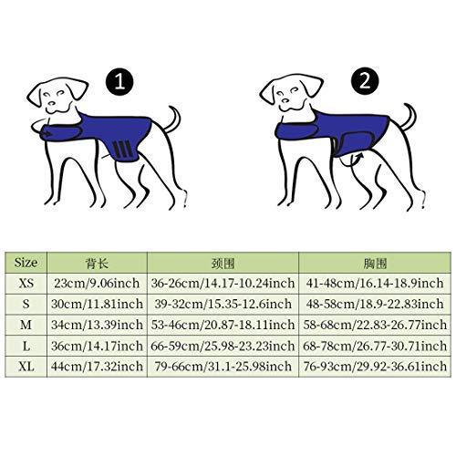 Zhuomei Chaleco Abrigo para Calmar la Ansiedad Chaleco de Invierno Camiseta Antiansiedad para Perro Apaciguar Emoción de Miedo Gris Oscuro L