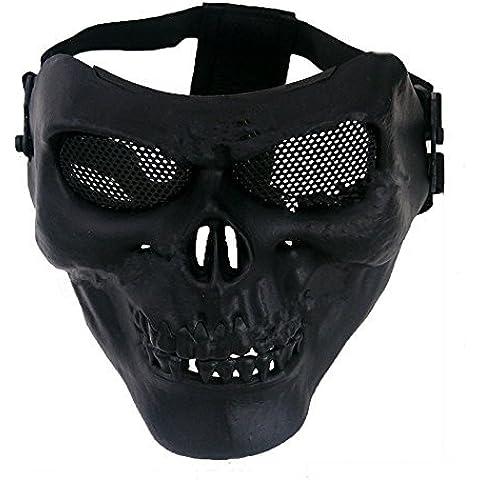sansido calavera Halloween CS máscara de cara al aire libre Motocicletas máscara Airsoft Wargame Guardia pantalla máscara facial máscara de Paintball deportes Fencing