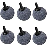 POPETPOP 6PCS Ball Shape Air Stones, Fish Tank Oxygen Stone, Mineral Bubble Diffuser Airstones For Aquarium Fish Tank Hydroponics Pump, 20x20mm