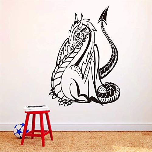 wandaufkleber Gotik Drachen Für Kinderzimmer Wanddekor Tierdekoration