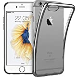 ESR Kompatibel mit iPhone 6 / 6S Hülle (4,7 Zoll), Twinkler Series [0.8mm Ultra Dünne] Weiche Silikon Schutzhülle TPU Transparent Zurück mit Überzug Farbig Rahmen Hülle für iPhone 6/6S - Grau