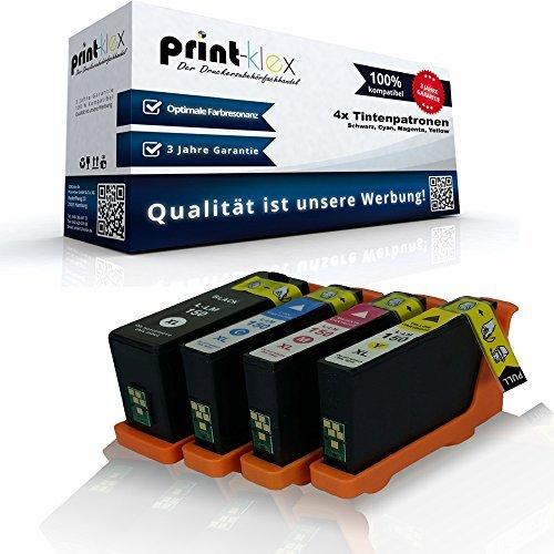 4x kompatible Tintenpatronen für Lexmark Pro 715 Pro 910 Pro 910 Series Pro 915 Lexmark S 315 150XL 150 XL 14N1919E 14N1910E 14N1807E 14N1805E Schwarz - Black Cyan Magenta - Kit Tinte Lexmark