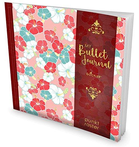 GOCKLER® Bullet Journal: Punktraster Notizbuch mit 100+ Seiten || Inkl. Register, Seitenzahlen, Glänzendes Softcover || Ideal für Handlettering & Skizzen || DesignArt.: Blumenmotiv