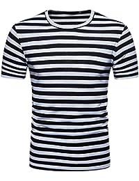 PengGengA Camiseta Básica De Manga Corta para Hombre Cuello Redondo Estampado Blusa 4hfF4q3aVi