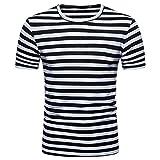 FAMILIZO Camisetas Manga Corta Hombre Moda Camisetas Hombre Algodón Camisetas Hombre Verano Blusa Hombre Manga Corta Tops Camisetas Hombre Rayas T Shirts For Men Blusa Hombre Blanca