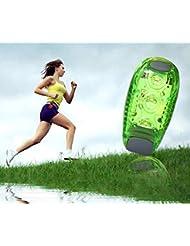 TiaoBug 2pcs LED Lampe Eclairage de Sécurité haute visibilité réfléchissant pour course/running/vélo/cyclisme/Marcher/chien
