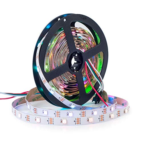 BTF-LIGHTING WS2812B 5M 30 LEDs/Pixels/m 150LEDs RGB adressierbare Streifen mit 5050 SMD LEDs NichtWasserdicht IP30