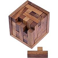 Packwürfel 125er Cube S - 3D Puzzle - Denkspiel - Knobelspiel - Geduldspiel - Logikspiel im Holzrahmen
